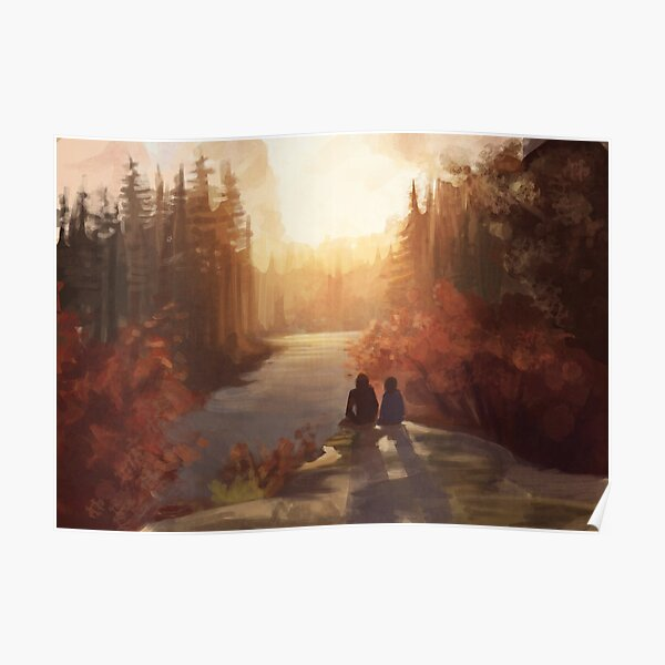 Sunrise Forest Poster