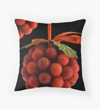 Christmas Berries - Card Throw Pillow
