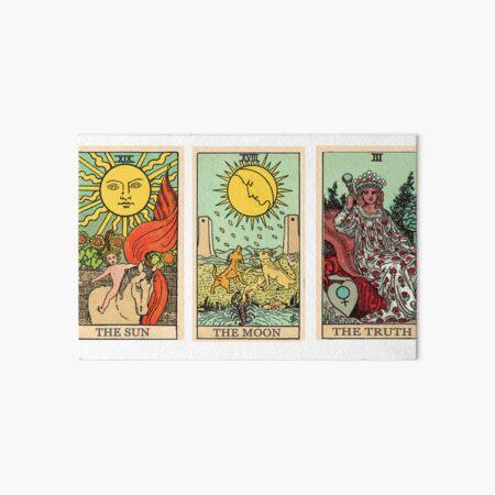 The Sun, The Moon, The Truth [Tarot] Art Board Print