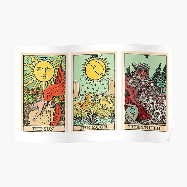 The Sun, The Moon, The Truth [Tarot] Poster