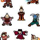 ATLA Mini Stickers: Fire Nation by Joumana Medlej