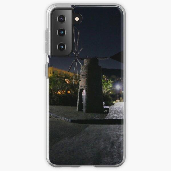 Cretan Windmill at Night Samsung Galaxy Soft Case