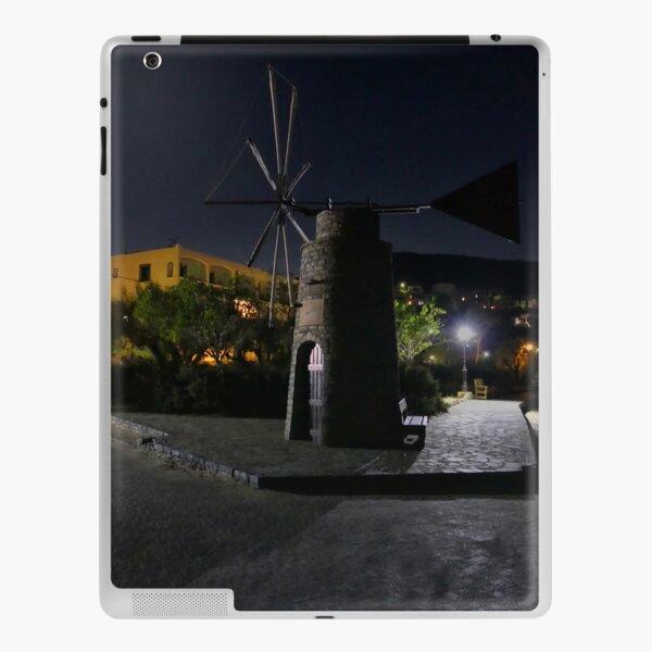 Cretan Windmill at Night iPad Skin
