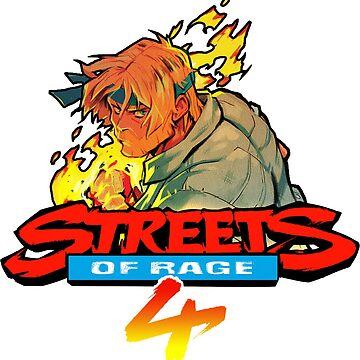 Streets of Rage 4 Logo with Axel by felixthekarl