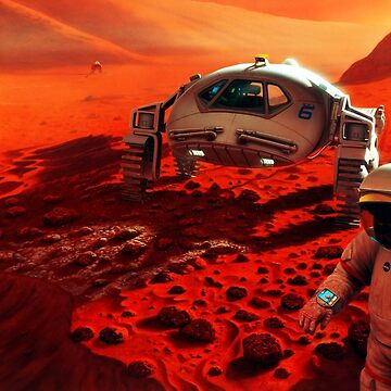 NASA: Mars, manned mission ⛔ HQ quality, painting by MichailoAvilov