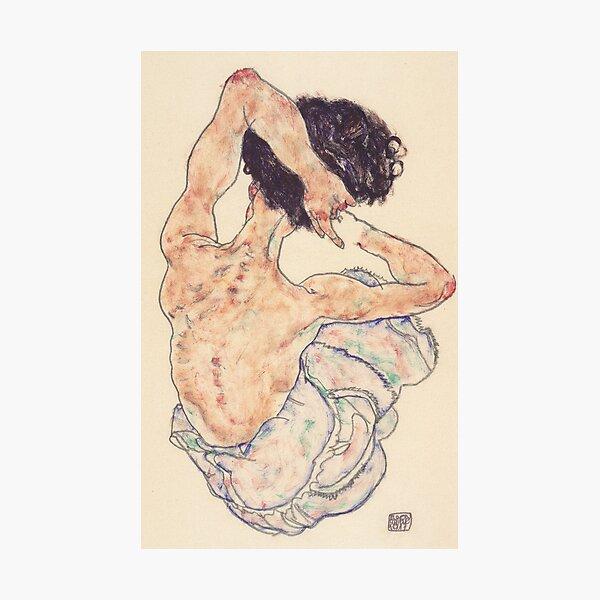 Egon Schiele Lámina - Ley de Sentado Lámina fotográfica