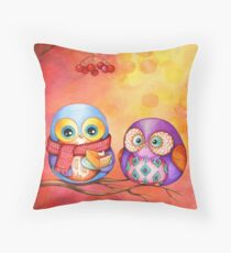 Thanksgiving Owls with Pumpkin Pie Throw Pillow
