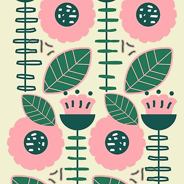 Modern flowers and leaves by cocodes