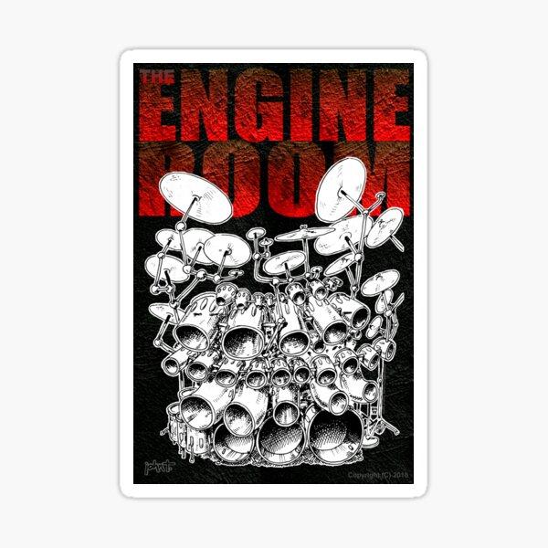 Drums - the Engine Room Sticker