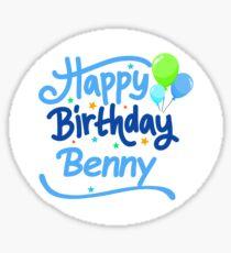 Happy Birthday Benny Sticker