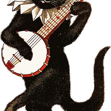 Musical black cat with guitar by Scirocko