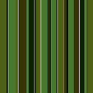 Brown green stripes vertical by Anteia