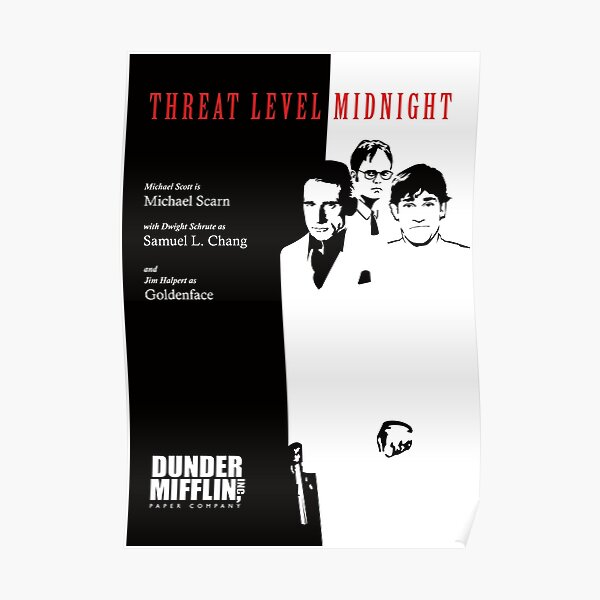 Threat Level Midnight Poster - The Office Poster