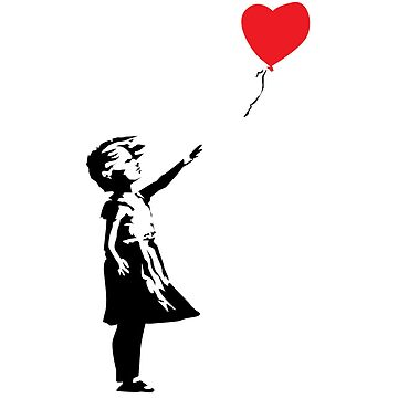Banksy GIRL WITH BALLOON tribute by 2piu2design