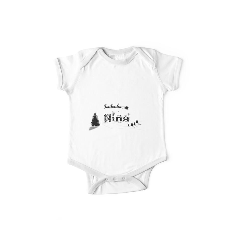 8432c69e9 Body de manga corta para bebé «Nombre de Navidad Nina» de PM-Names ...