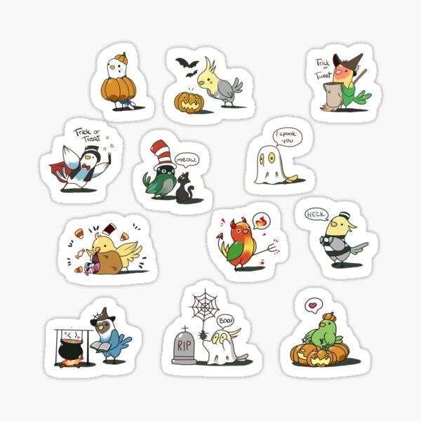 Halloween birbs Sticker