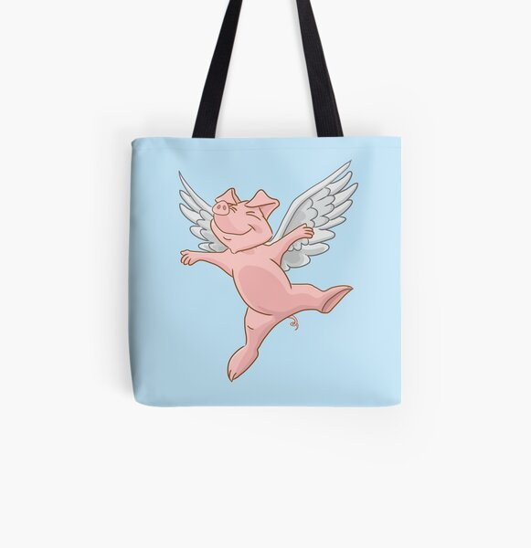 Flying Pig All Over Print Tote Bag