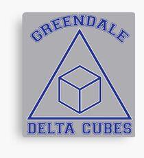Greendale Delta Cubes Frat Canvas Print
