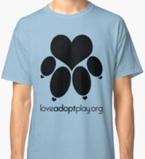 love paw (black) - loveadoptplay.org Classic T-Shirt