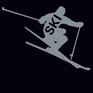 Ski T shirts and gifts, skier silhouette  by CallyLawson