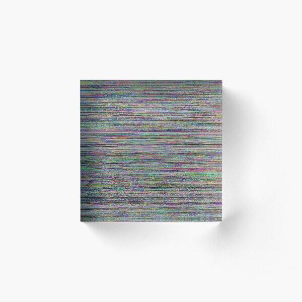 Glowing Glitch Noise Acrylic Block