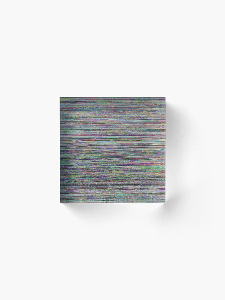 Alternate view of Glowing Glitch Noise Acrylic Block