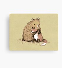 Grizzly Hugs Canvas Print