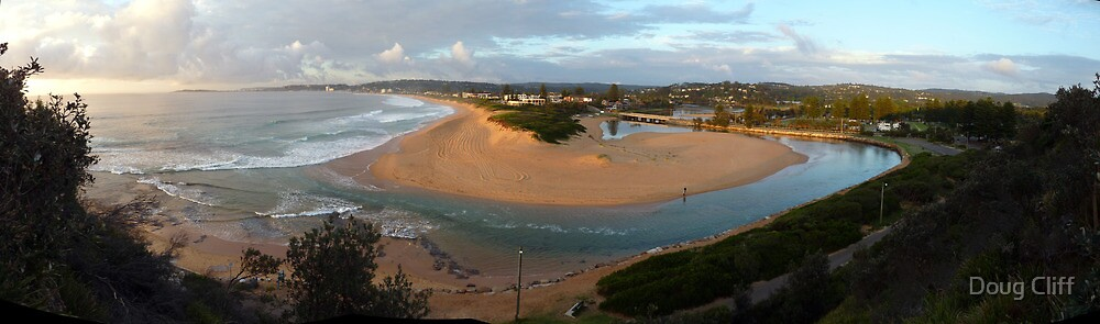 Narrabeen lake and Beach  by Doug Cliff