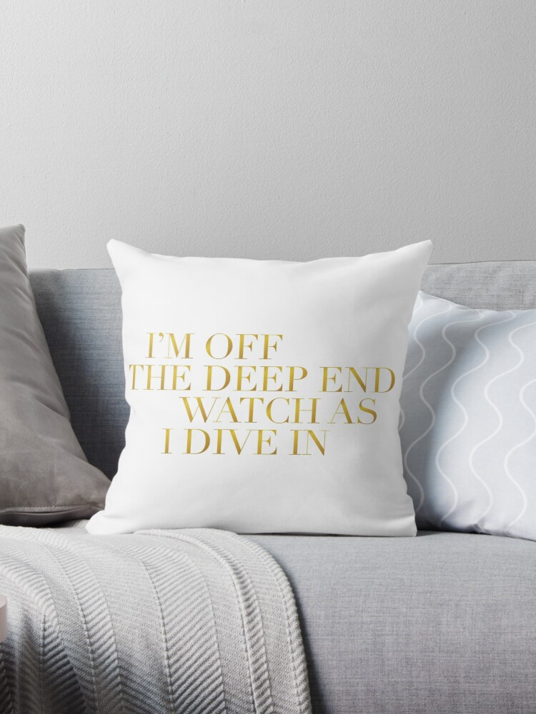 'A Star Is Born - Shallow Lyrics - Lady Gaga' Throw Pillow by dawsonsweek