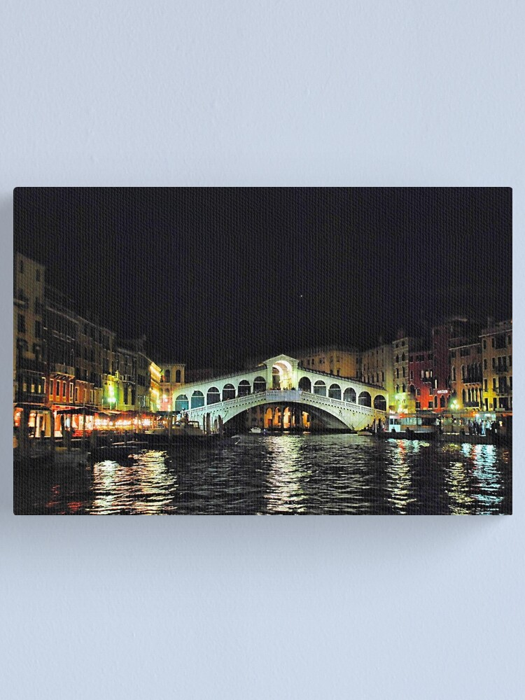 Alternate view of Ponte di Rialto di notte Canvas Print