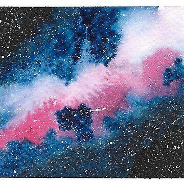 Watercolour Galaxy III by christinaashman