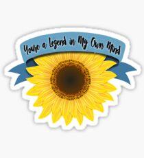 Legend Twenty One Pilots Sunflower Sticker