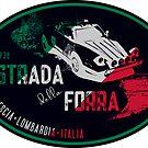 Strada Della Forra Italy Classic Car T-Shirt & Sticker by ROADTROOPER