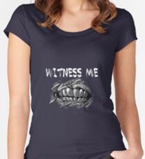 WITNESS ME!  Women's Fitted Scoop T-Shirt