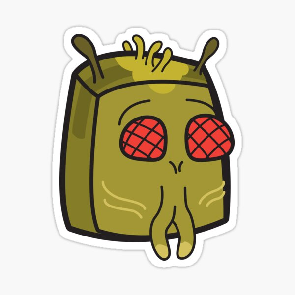 Krombopulos Michael - Rick and Morty Boxheadz Dimension Sticker