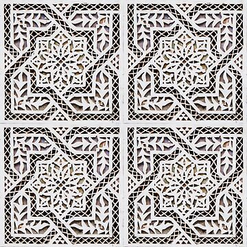 Arabic tile carving pattern by creaschon