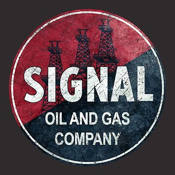 Vintage Signal Oil And Gas Emblem by Lidra