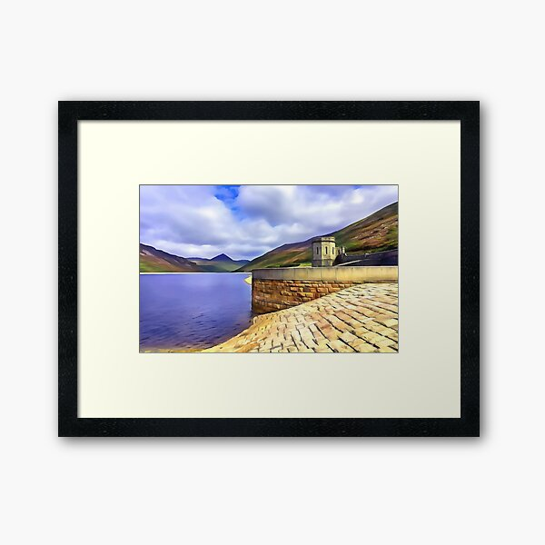 The Silent Valley, Ireland. (Painting) Framed Art Print