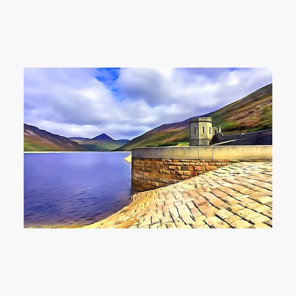The Silent Valley, Ireland. (Painting) Photographic Print
