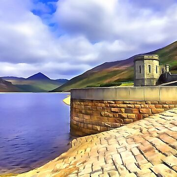 The Silent Valley, Ireland. (Painting) by cmphotographs
