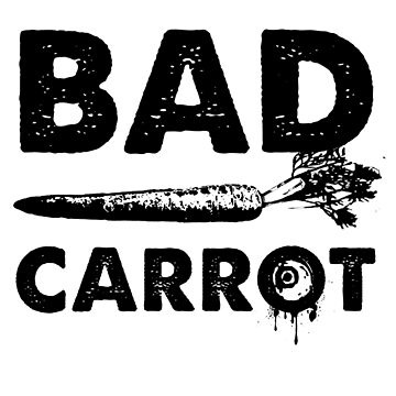Bad Carrot (Black) by blackdalek