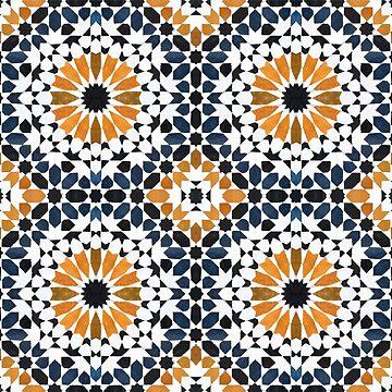 Arabic mosaic tile pattern by creaschon