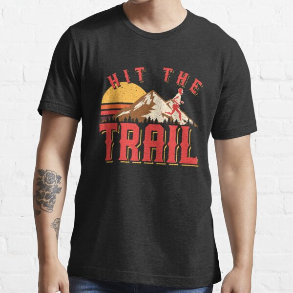 Vintage Gym Hit The Trail Running Marathon Gift Essential T-Shirt