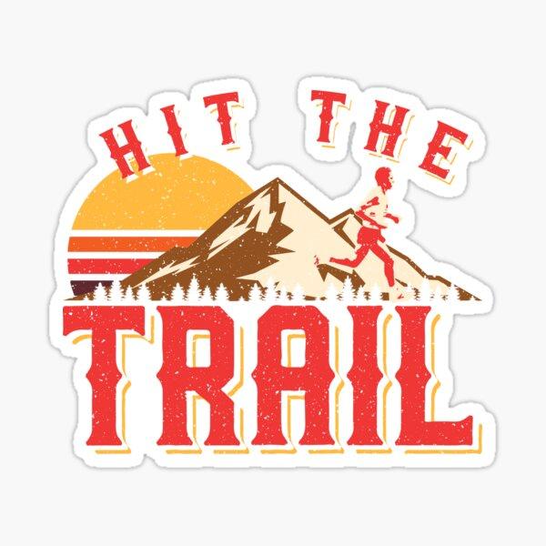 Vintage Gym Hit The Trail Running Marathon Gift Sticker