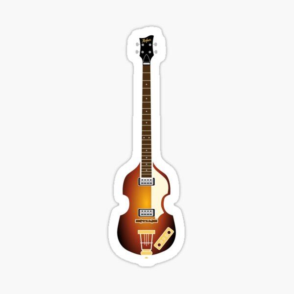 pequeñas guitarras Pegatina
