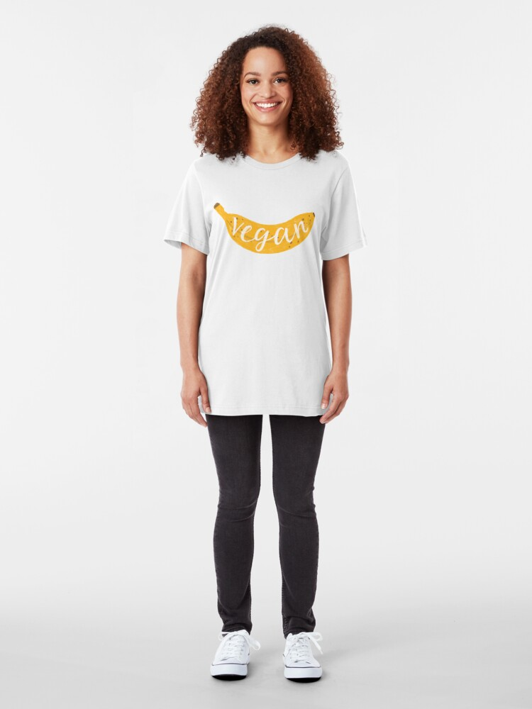 Alternate view of Vegan banana Slim Fit T-Shirt