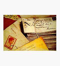 Write Me Like You Used To Do... Photographic Print