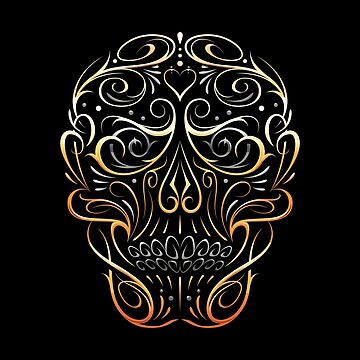 Skull Shape Gold Pattern by Vecster
