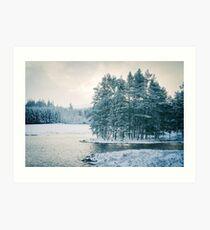 Winter at a Loch Near Kingussie (Cat Burton Photography) Art Print