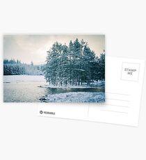 Winter at a Loch Near Kingussie Postcards